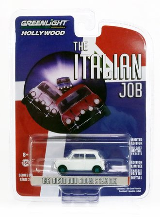 Chase 1:64 The Italian Job (1969) - 1967 Austin Mini Cooper S 1275 MkI (White)