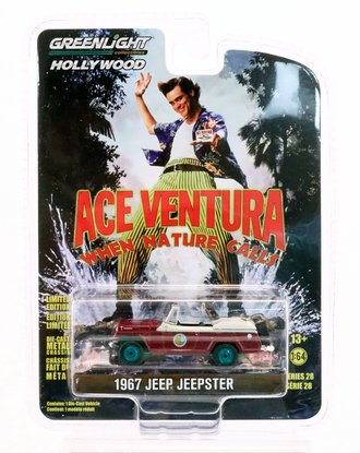 Chase 1:64 Ace Ventura: When Nature Calls (1995) - 1967 Jeep Jeepster Convertible