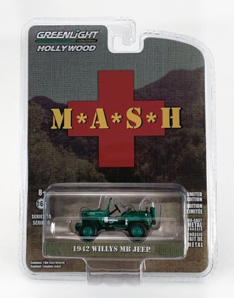 Chase 1:64 M*A*S*H (1972-83 TV Series) - 1942 Willys MB Jeep *** GREEN Body ***