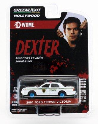 "Chase 1:64 Hollywood Series 32 - Dexter (2006-13 TV Series) - 2001 Ford CV PI ""Miami Metro Police Dept"""