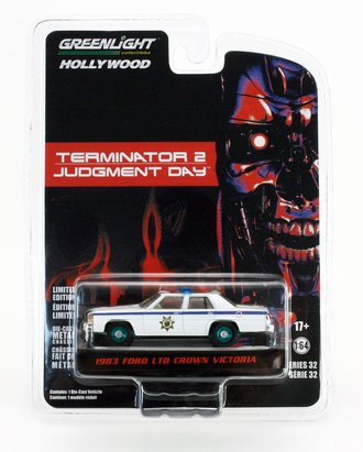 Chase 1:64 Hollywood Series 32 - Terminator 2: Judgment Day (1991) - 1983 Ford LTD Crown Victoria Police