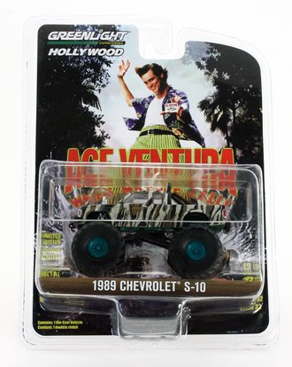 Chase 1:64 Ace Ventura: When Nature Calls (1995) 1989 Chevrolet S-10 Extended Cab Monster Truck