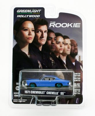 Chase 1:64 The Rookie (2018-Current TV Series) Officer John Nolan's 1971 Chevrolet Chevelle