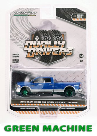 "Chase 1:64 2018 RAM Harvest Edition Dually ""New Holland Blue"""