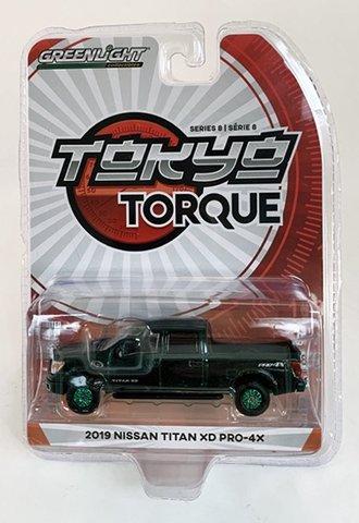 Chase 1:64 2019 Nissan Titan XD Pro-4X (Midnight Pine Metallic)