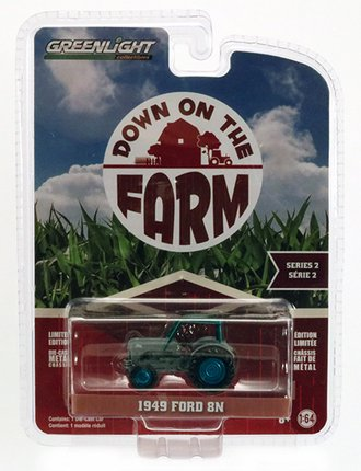 Chase 1:64 1949 Ford 8N Tractor w/Cab (Grey)
