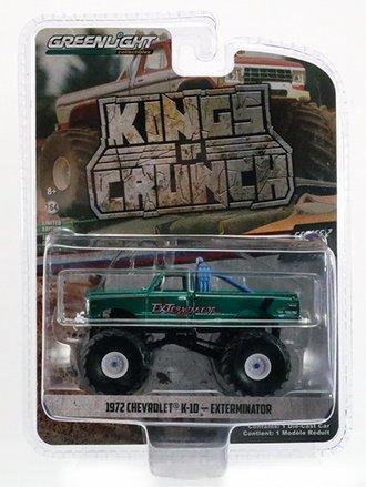 Chase 1:64 ExTerminator - 1972 Chevy K-10 Monster Truck *** GREEN Body ***