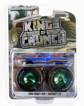 Chase 1:64 Kings of Crunch Series 7 - Bigfoot #7 - 1996 Ford F-250 Monster Truck (Dirty Version)