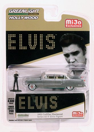 Chase 1:64 Elvis 1955 Cadillac Fleetwood Series 60 w/Elvis Figure *** RAW Body/Green Chassis ***