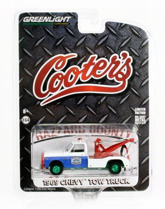 """Chase 1:64 1969 Chevy Tow Truck """"Cooter's Hazzard County Garage"""""""
