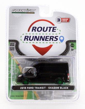 Chase 1:64 2019 Ford Transit LWB High Roof (Shadow Black)