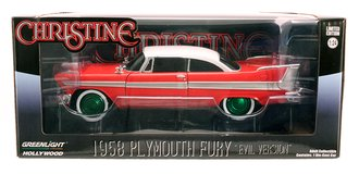 Chase 1:24 Christine (1983) - 1958 Plymouth (Evil Version with Blacked Out Windows)
