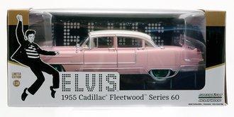 "Chase 1:24 Elvis Presley (1935-77) - 1955 Cadillac Fleetwood Series 60 ""Pink Cadillac"""