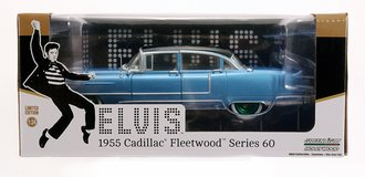 "Chase 1:24 Elvis Presley (1935-77) - 1955 Cadillac Fleetwood Series 60 ""Blue Cadillac"""