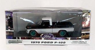 Chase 1:43 1970 Ford F-100 Pickup Truck (Raven Black/Pure White)