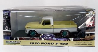 Chase 1:43 1970 Ford F-100 Pickup Truck (Pinto Yellow/Pure White)