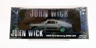 Chase 1:43 John Wick (2014) - 1969 Ford Mustang BOSS 429