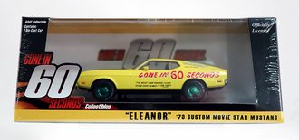 """Chase 1:43 Gone in 60 Seconds (1974) 1973 Ford Mustang Mach 1 """"Eleanor"""" (Post-Filming Tribute Edition)"""
