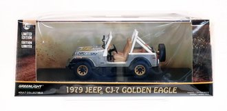 "Chase 1:43 1979 Jeep CJ-7 Golden Eagle ""Dixie"" *** RAW Casting ***"
