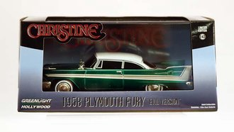 Chase 1:43 Christine 1958 Plymouth (Evil Version w/Blacked Out Windows) *** GREEN Body ***