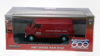 """Chase 1:43 1987 Dodge Ram B150 Van """"71st Annual Indianapolis 500 Mile Race Official Truck"""""""
