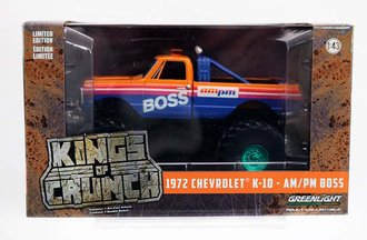"""Chase 1:43 Kings of Crunch - 1972 Chevrolet K-10 Monster Truck w/66-Inch Tires """"AM/PM Boss"""""""