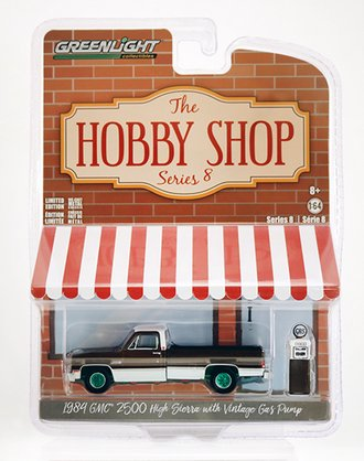 Chase 1:64 The Hobby Shop Series 8 - 1984 GMC 2500 High Sierra with Vintage Gas Pump
