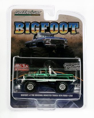 Chase 1:64 Original Bigfoot #1 - Monster Truck (Green Chrome Edition)