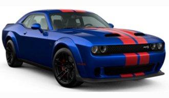 1:18 2021 Dodge Challenger Super Stock (Blue w/Red Stripes)