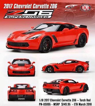 1:18 2017 Corvette Z06 (Torch Red)