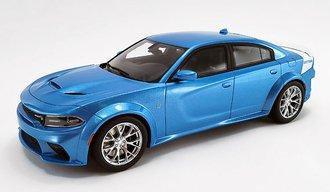 "1:18 2020 Dodge Charger SRT Hellcat Widebody ""Daytona 50th Anniversary"" (B5 Blue)"
