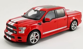 "1:18 2017 Shelby F-150 ""Super Snake"" (Red w/White Stripes)"