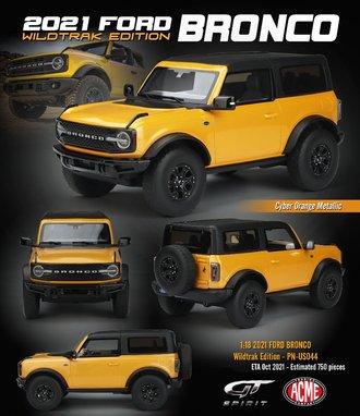 1:18 2021 Ford Bronco Wildtrack (Cyber Orange Metallic)
