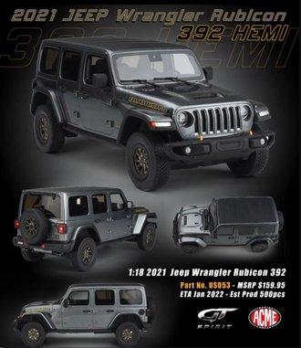 1:18 2021 Jeep Wrangler Rubicon 392 Hemi (Granite Crystal Metallic)
