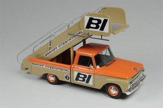 "1965 Ford F-100 Stairs Truck ""Braniff International Airways"" (Orange/Tan)"