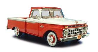 1:43 1965 Ford F-100 Pickup (Rangoon Red/White)