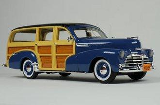 1948 Chevrolet Woody (Lake Como Blue) w/Open Rear Wheels