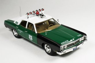 "1:43 1970 Ford Galaxie Police ""NYPD"" (Green/Black)"