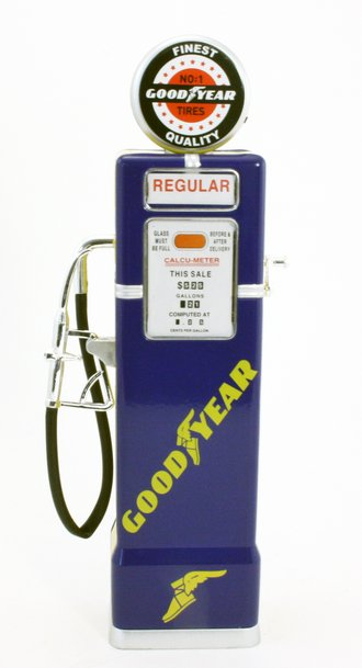 "1:8 Gas Pump ""Goodyear"" (Blue) (Bank)"
