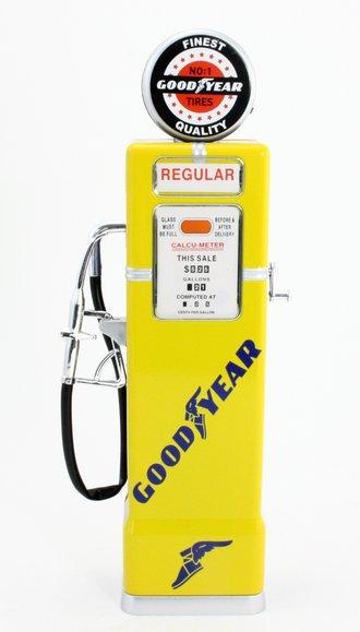 "1:8 Gas Pump ""Goodyear"" (Yellow) (Bank)"
