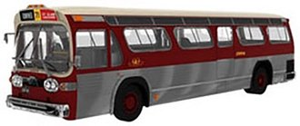 1:43 GM TDH-5301 New Look Fishbowl Transit Bus