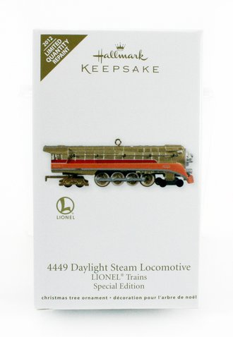 Lionel Ornament - 4449 Daylight Steam Locomotive Lionel Trains Special Edition