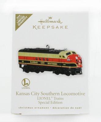 Lionel Ornament - KCS Diesel Locomotive - Gold Crown Special