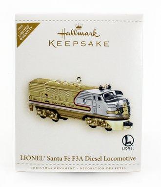 Lionel Ornament - Santa Fe F3A Diesel Locomotive *** Gold Crown Store Exclusive ***