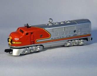 Lionel Ornament - 1950 Santa Fe Diesel Locomotive
