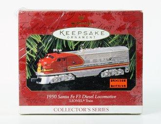 Lionel Ornament - 1950 Santa Fe Diesel Locomotive