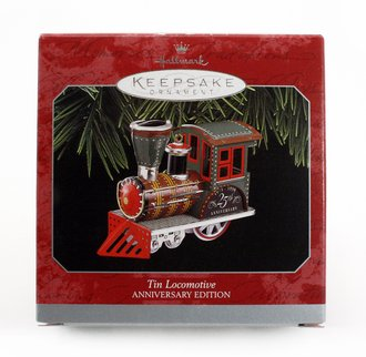 Train Ornament - Tin Locomotive - 25th Anniversary