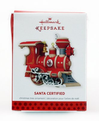 Train Ornament - Santa Certified (2013)