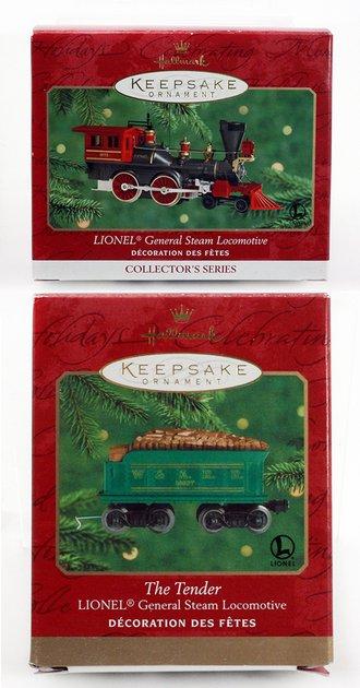 Lionel Ornament - 2000 Set - General Engine & Tender