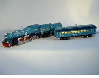 Lionel Ornament - 2002 Set - Blue Comet, Tender & Passenger Car